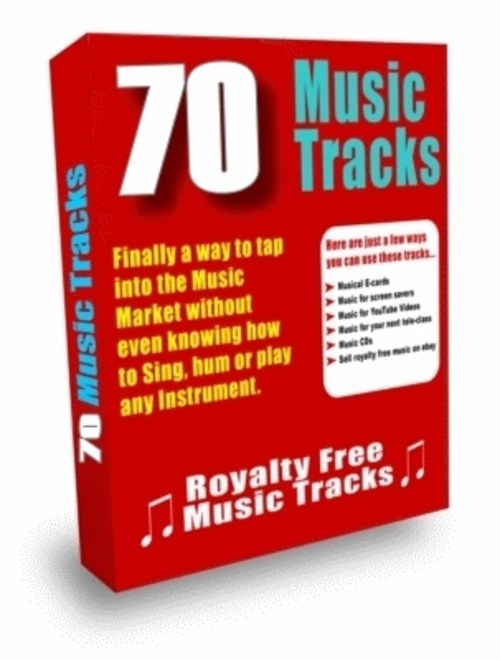 Product picture 70 Royalty Free Music Tracks and Loops PLR Audio